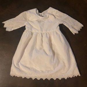 Toddler Old Navy eyelet white dress 3T EUC